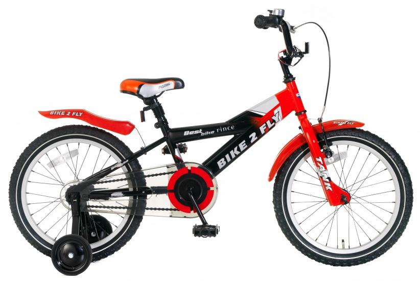 Popal Bike 2 Fly 18 Inch 24 cm Jongens Terugtraprem Rood