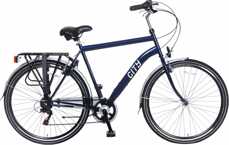 Popal City 6 Speed 28 Inch 57 cm Heren 6V V Brake Blauw