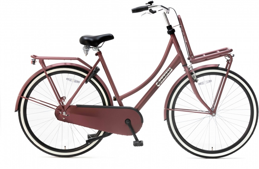 Popal Daily Dutch Basic 28 Inch 57 cm Dames Terugtraprem Rood