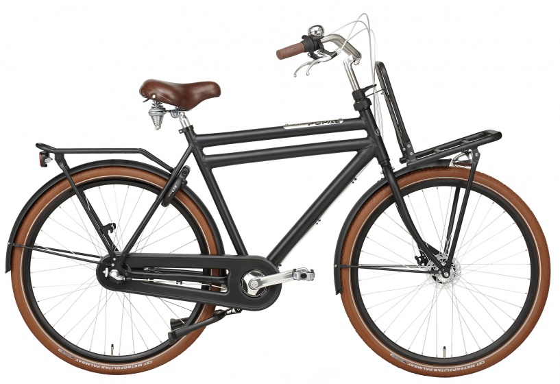 Popal Daily Dutch Prestige 28 Inch 50 cm Heren 3V Rollerbrake Matzwart