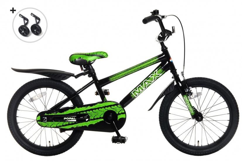 popal max 18 zoll jungen r cktrittbremse schwarz gr n internet bikes. Black Bedroom Furniture Sets. Home Design Ideas