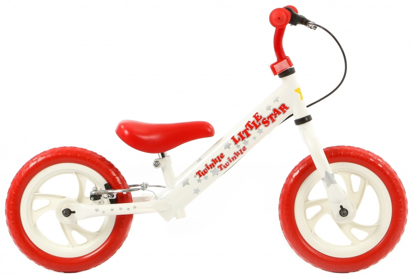 Popal Twinkle Star 12 Inch Junior V Brake Wit/Rood