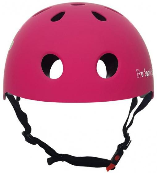 Pro Sport Lights fietshelm junior polystyreen roze maat S