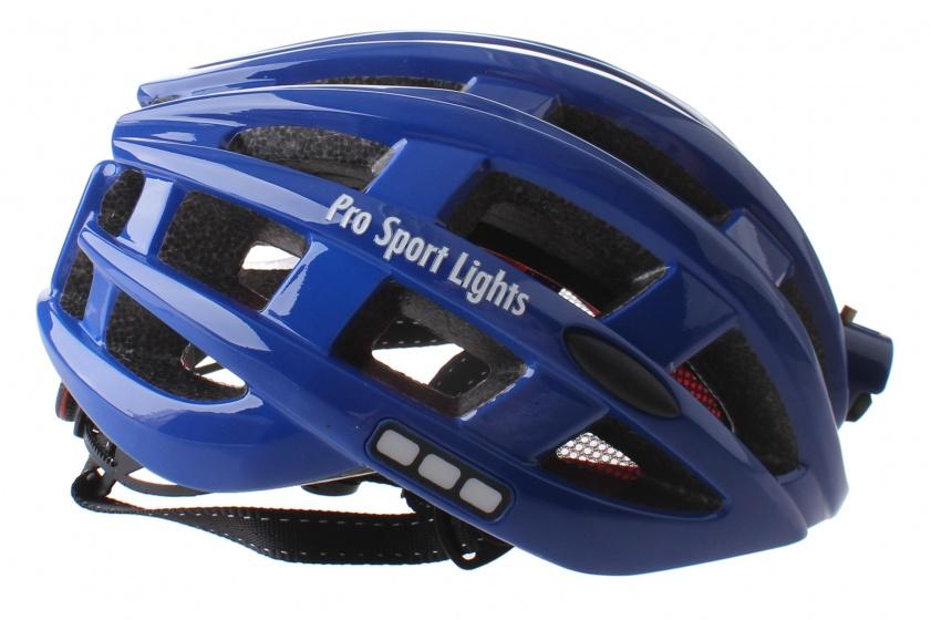 Pro Sport Lights fietshelm met verlichting unisex blauw mt 49 59