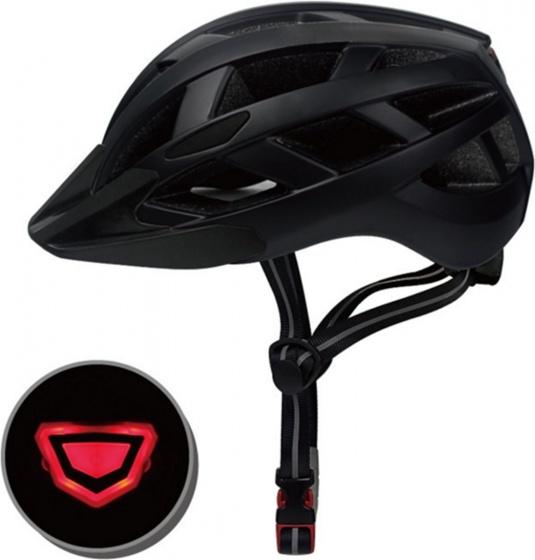 Pro Sport Lights fietshelm met verlichting unisex matzwart maat L