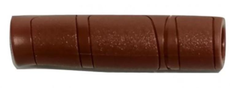 Progrip handvatten 120 mm PVC bruin 2 stuks