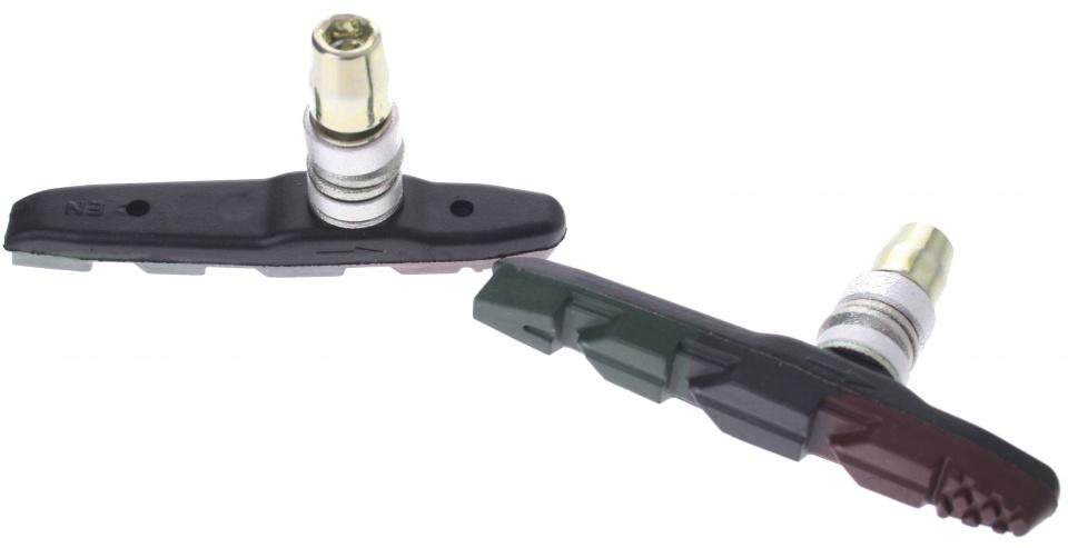 Promax remblokken V brake 70 x 13 mm groen/zwart/bruin 2 stuks