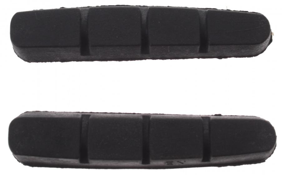 Promax remblokrubbers V brake 55 x 12 mm zwart 2 stuks
