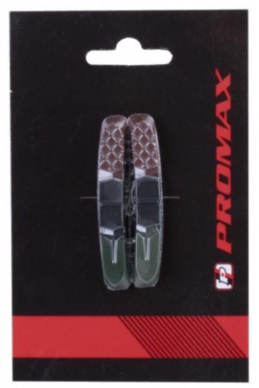 Promax remblokrubbers V brake 72 x 11 mm gr/zw/br 2 stuks