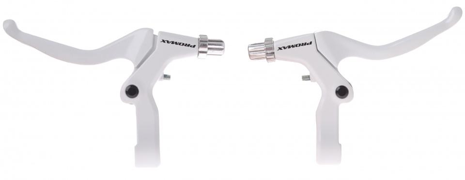 Promax remgrepen set V brake/cantilever 3 vinger wit