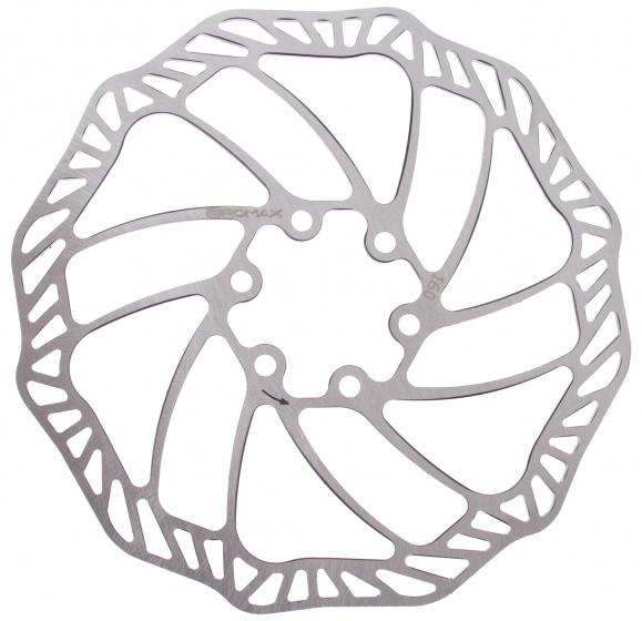 Promax remschijf 160 mm 6 gaats staal zilver