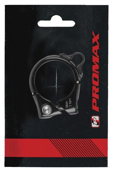 Promax Zadelpenklem met kabelhouder 34,9 mm zwart