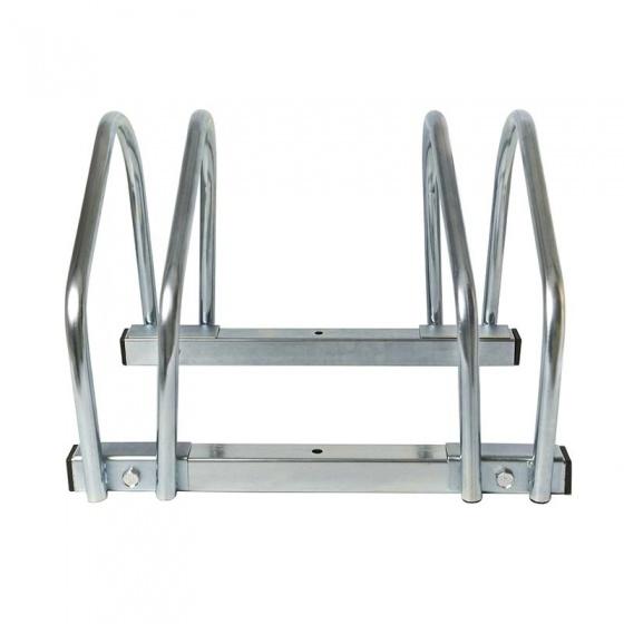 ProPlus fietsenrek voor twee fietsen 26 x 40 x 33 cm zilver