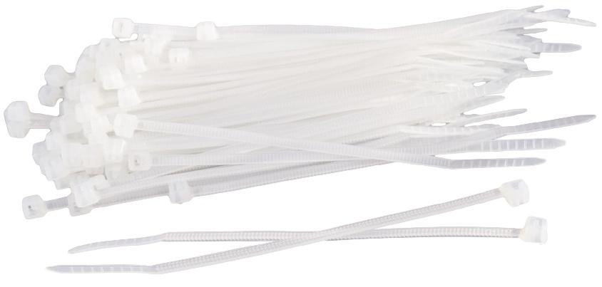 ProPlus kabelbinders 2,5 x 200 mm wit 100 stuks