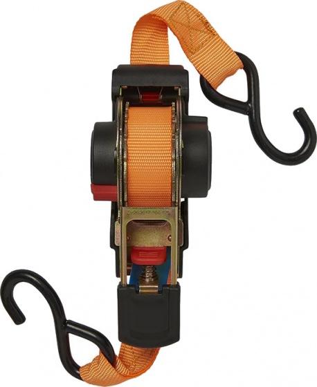 ProPlus spanband met ratel 350 cm zwart/oranje