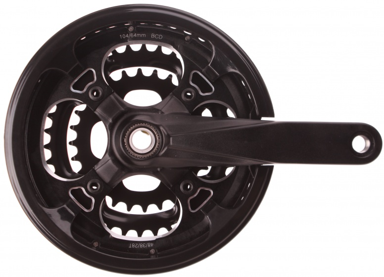 Prowheel crankstel met trapas 9 speed 28 38 48T 170 mm zwart