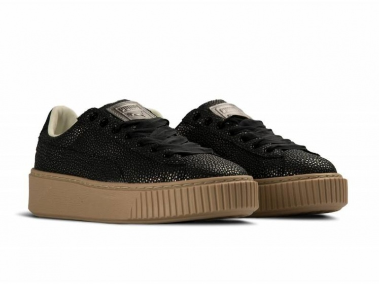 Puma Sneakers Platform Lux Dames Zwart Maat 36