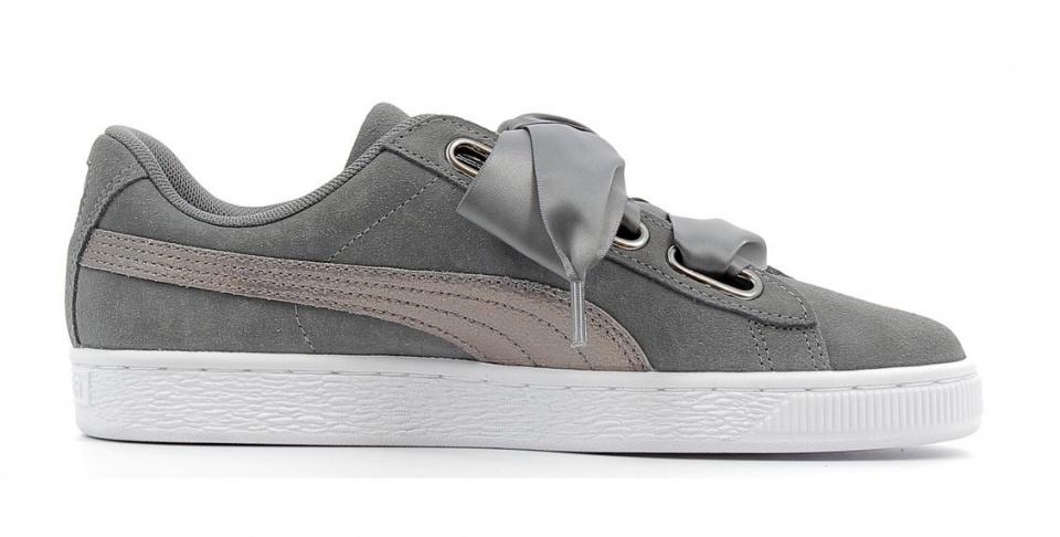 sneakers Suede Heart LunaLuxladies grey