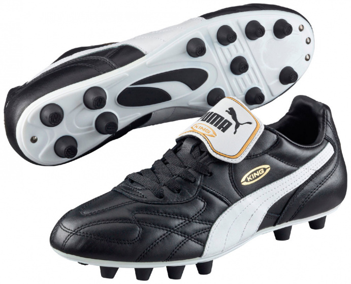 voetbalschoenen King Top heren leer zwart/wit