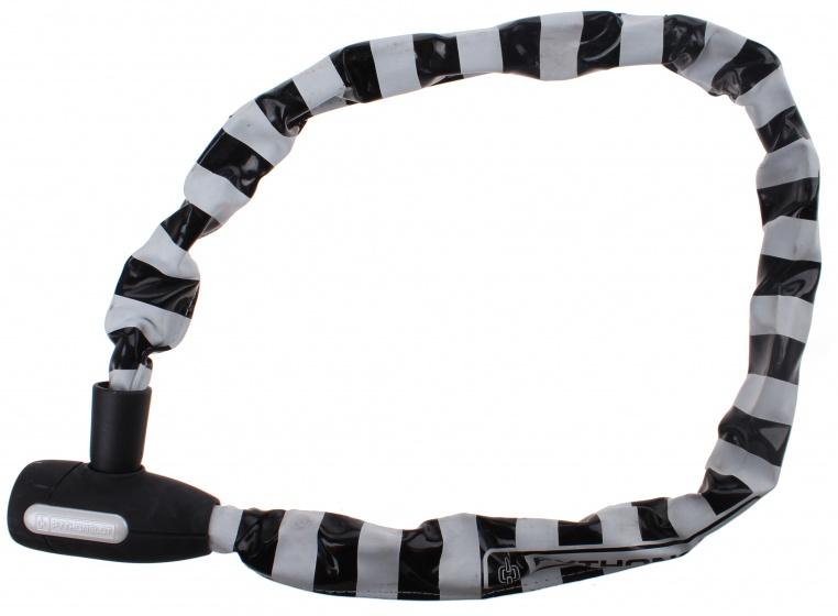 Pythonslot kettingslot 90 cm wit/zwart