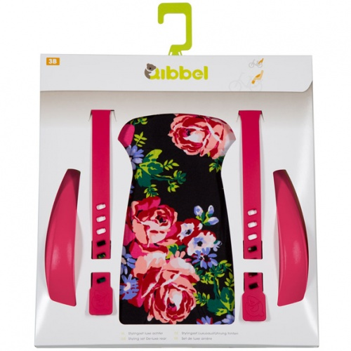 Qibbel Stylingset Luxe Fietszitje Achter Blossom Roses Black