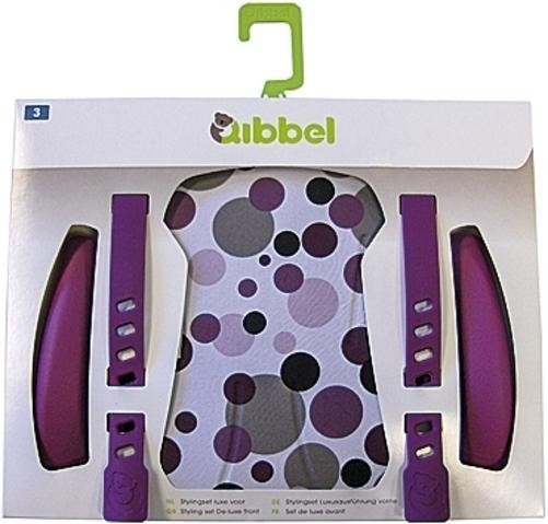 Qibbel Stylingset Luxe Fietszitje Achter Dots-Purple