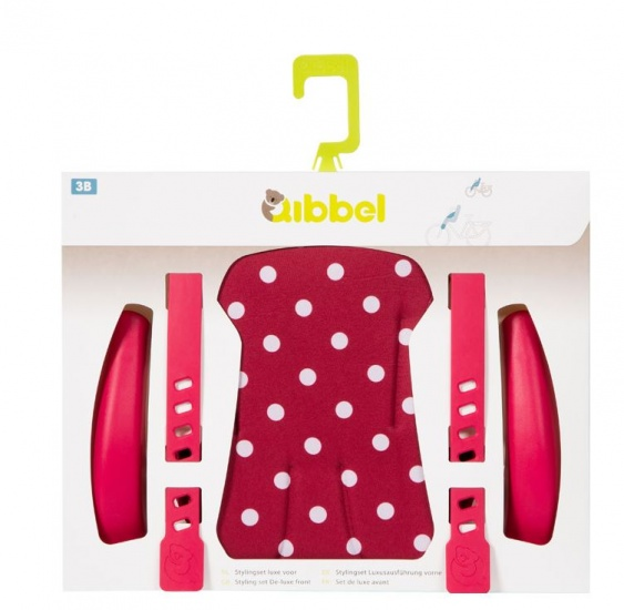 Qibbel Stylingset Luxe Fietszitje Voor Polka DOT Rood