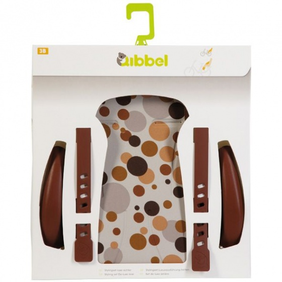 Qibbel stylingset voor Qibbel achterzitje Dots bruin Q315