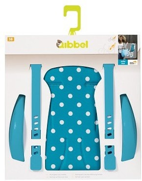 Qibbel stylingset voor Qibbel achterzitje Polka Dot blauw Q338