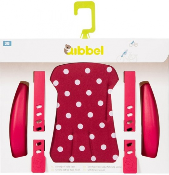 Qibbel stylingset voor Qibbel achterzitje Polka Dot rood Q339