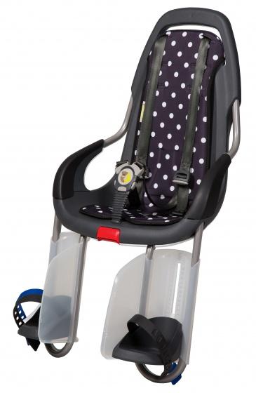 Qibbel ToGo fietszitje achter Q134 junior drager zwart/polka zwart