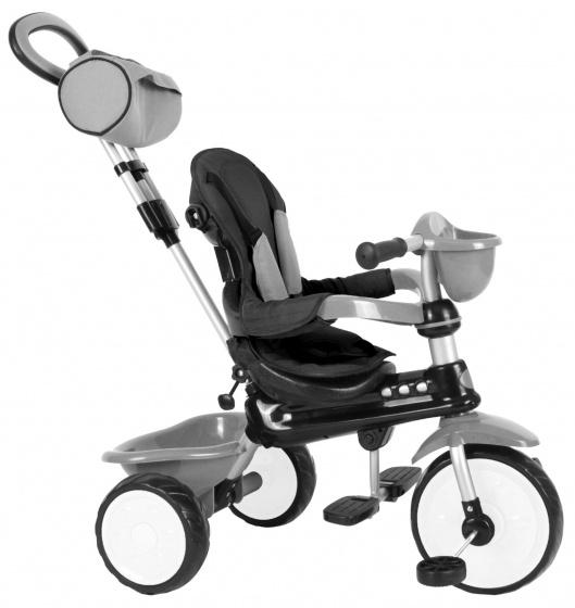 QPlay driewieler Comfort 4 in 1 Junior Grijs