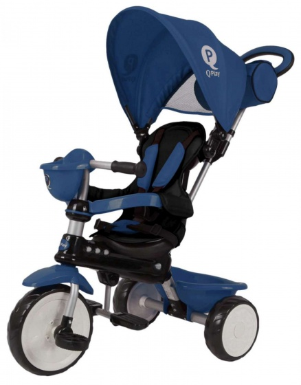 QPlay Comfrot 4 in 1 driewieler 10 Inch Junior Blauw
