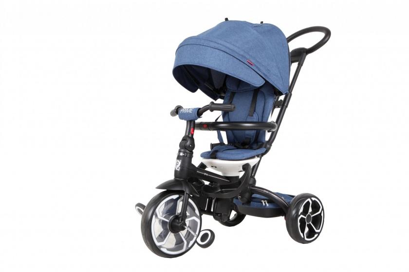 QPlay Prime 4 in 1 driewieler Junior Blauw/Zwart
