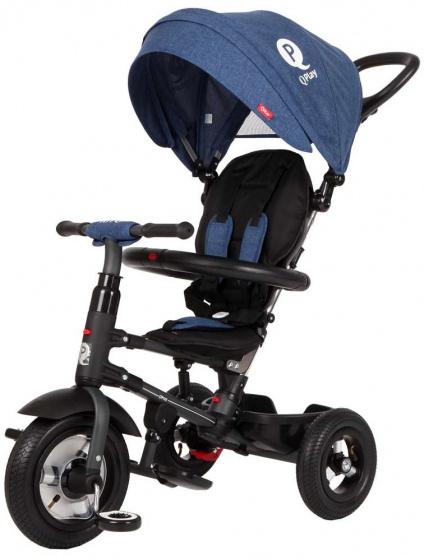 QPlay Rito Air Deluxe Junior Zwart/Blauw