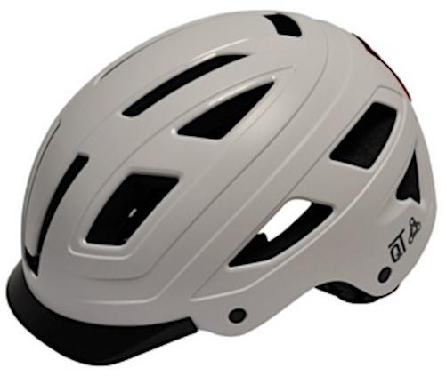 QT Cycletech fietshelm Urban Style wit maat 52 58 cm