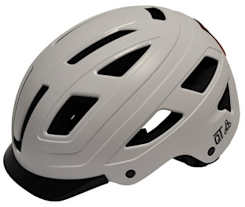 QT Cycletech fietshelm Urban Style wit maat 58 62 cm