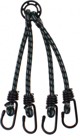 Quickly spinbinder 4 armig 9 mm 50 cm zwart/groen
