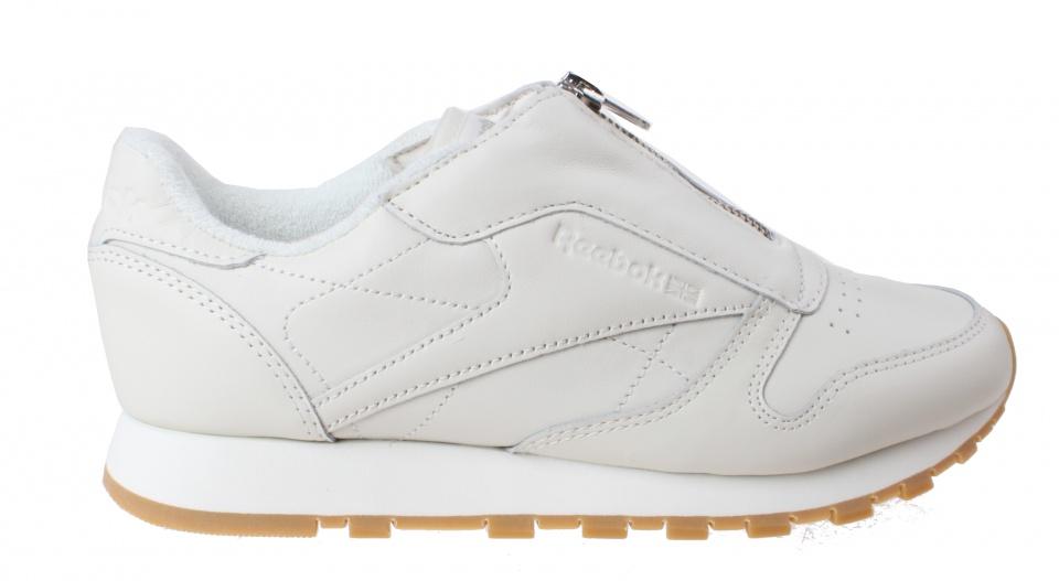 Sneakers Classic Leather Zip Chalk Damen Creme