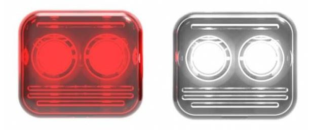 Reelight fietsverlichting AMS reepower staal rood/wit 4 delig