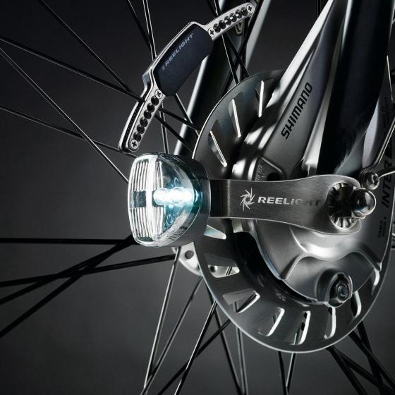 Reelight fietsverlichting SL220 Flash staal rood/wit 6 delig