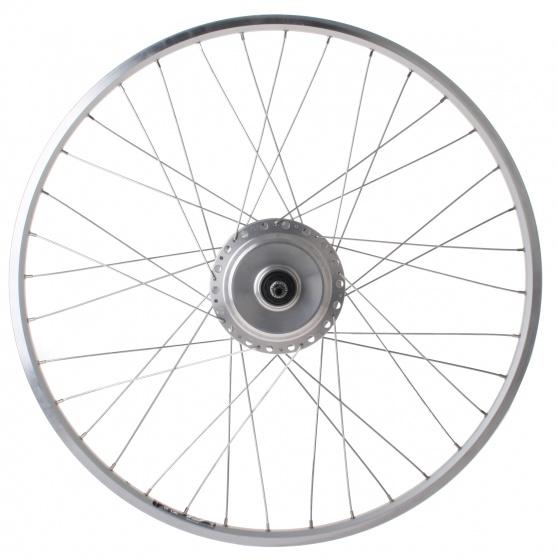 Rigida achterwiel Zac 19 28 inch Nuvinci N171 staal 36G zilver