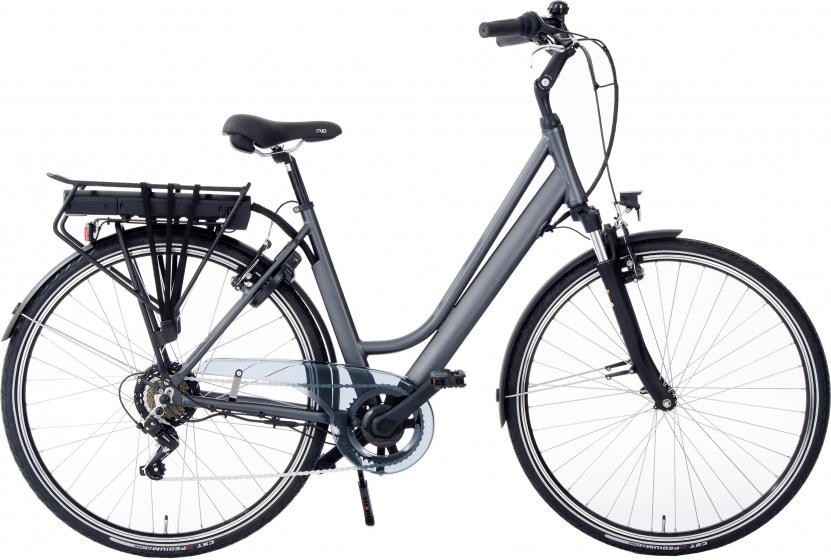 Rivella Rio 28 Inch 50 cm Dames 7V V Brakes Matgrijs - Elektrische fiets