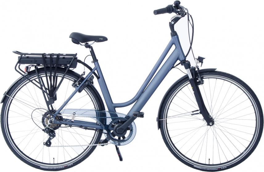 Rivella Rio 28 Inch 46 cm Dames 7V V Brakes Matblauw/Grijs - Elektrische fiets