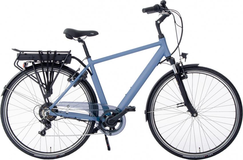 Rivella Rio 28 Inch 50 cm Heren 7V V Brakes Matblauw/Grijs - Elektrische fiets