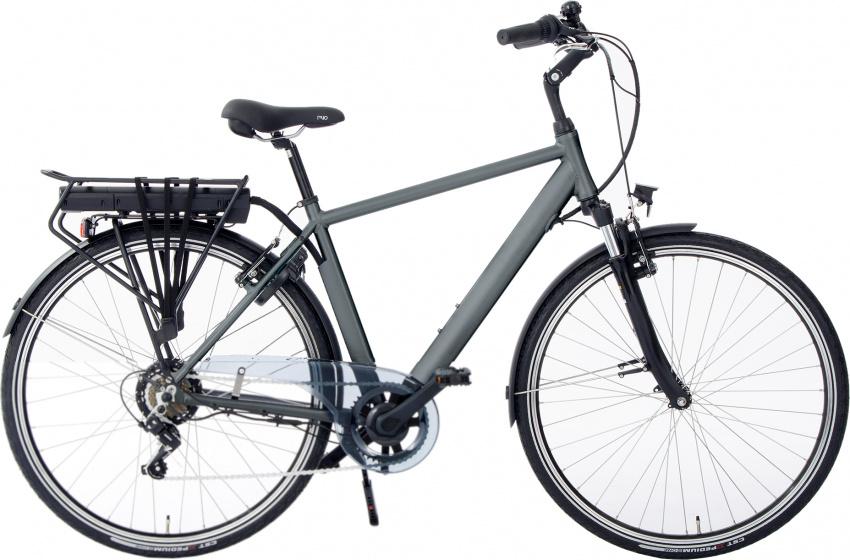 Rivella Rio 28 Inch 54 cm Heren 7V V Brakes Matgrijs - Elektrische fiets