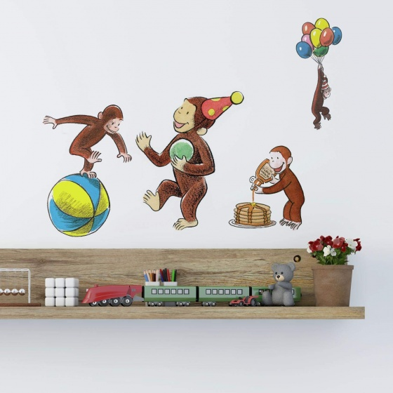 curious george VINYL WALL STICKER WALL DECALS