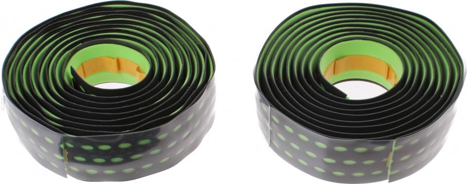 Roto stuurlint 200 cm zwart/groen 2 stuks