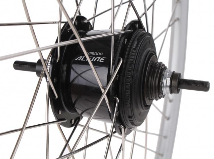 Ryde achterwiel 28 inch schijfrem 36G aluminium zilver