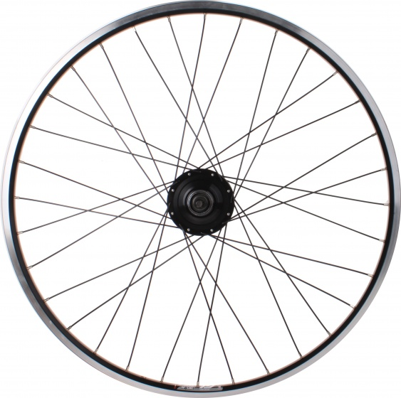 Ryde achterwiel Zac 19 28 inch schijfrem 36G alu zwart/zilver